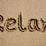 relax in sand