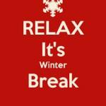 relax winter break