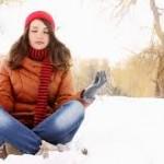 relax winter yoga